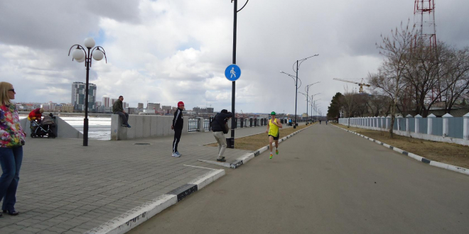 бег на набережной